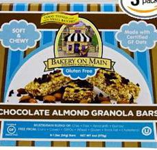 Bakery on Main Gluten Free Chocolate Almond Granola Bars
