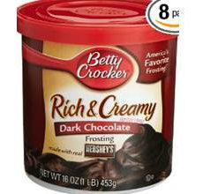 Betty Crocker Gluten Free Dark Chocolate Frosting