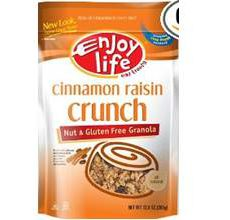 Enjoy Life Gluten-Free Cinnamon Raisin Crunch Granola