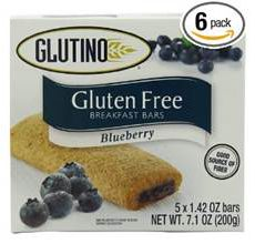 Glutino Gluten-Free Breakfast Bars Blueberry