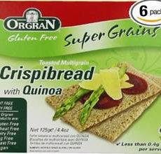 OrgraN Gluten-Free Toasted Multi-Grain Crispibread wQuinoa