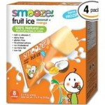 Smooze Gluten-Free Fruit Ice Pops Cocanut Mango