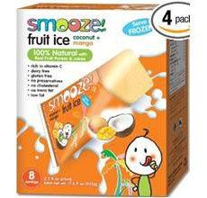 Smooze Gluten-Free Fruit Ice Pops Cocanut Mango