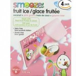 Smooze Gluten-Free Fruit Ice Pops Coconut Pink Guava
