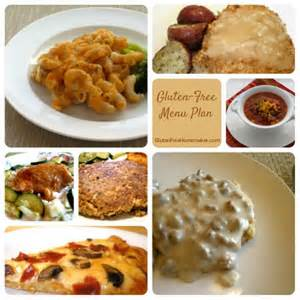 Gluten Free Menu Plan Seven Options Pictured