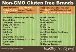 Non-GMO Gluten Free Brands