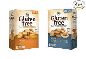 Lance Gluten Free Sandwich Crackers Peanut Butter and Cheddar Cheese Flavors