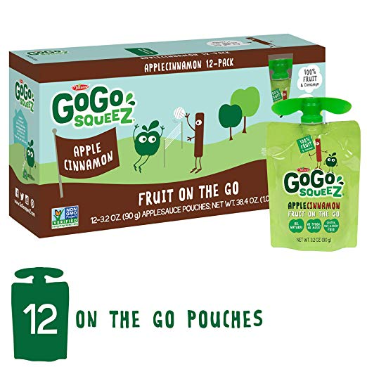 GoGo SqueeZ 12 Pouch Pack Apple Cinnamon