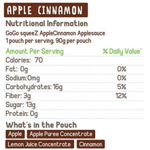 GoGo SqueeZ Apple Cinnamon Nutrition Information